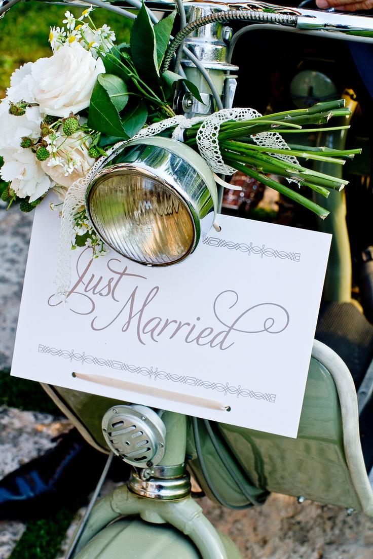 Una Vespa en mi boda