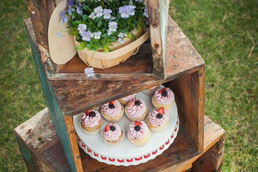 Estilos de buffet rústico chic para tu boda