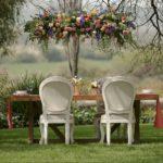 decoración floral aérea para bodas