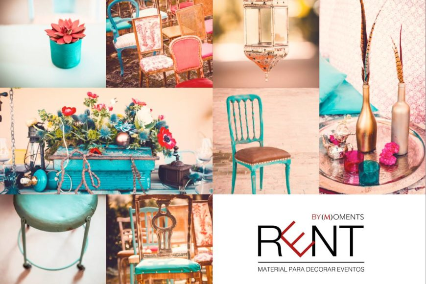 Rent by Moments, material para decorar eventos/ RENT BY MOMENTS, EVENTS, DECORATING MATERIAL
