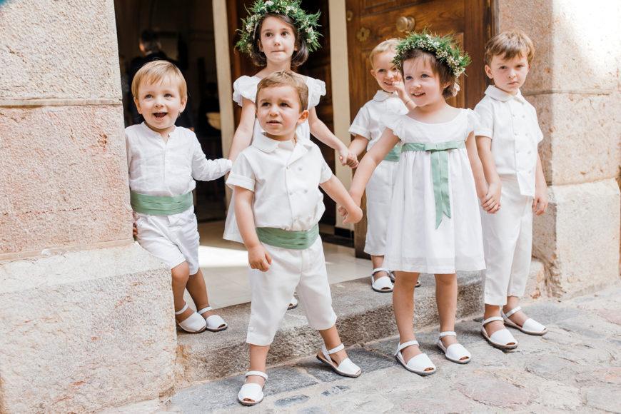 Una boda con niños seguro que será siempre divertida y tierna/A wedding with children will be always fun and tenderness.